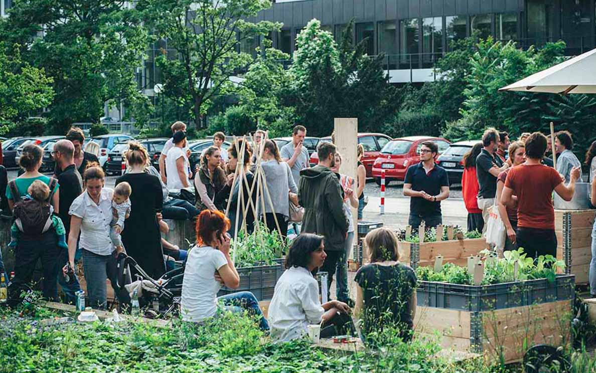Feier zur Eröffnung des Gartens