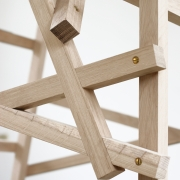 Detail der Holzkonstruktion